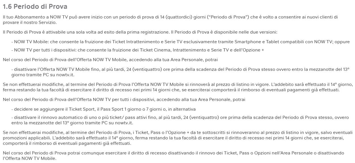 Now tv prova